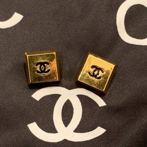 Vintage Chanel CC Clip Earrings